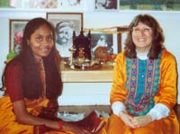 Rose and her student, Supriya